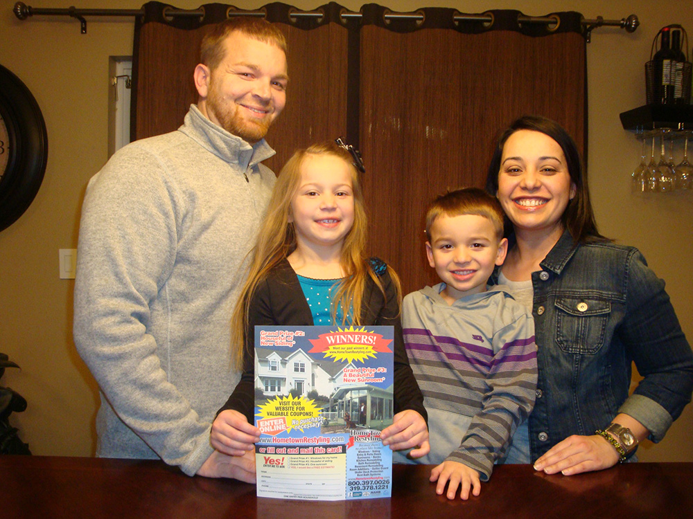 2012 Home Makeover Sweepstakes Winners - Royce & Lauren Pevy – Cedar Rapids, IA
