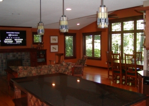 Great rooms combine family and dining room features