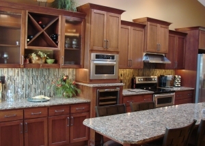 Iowa Kitchen remodeling contractor | Remodeled Kitchen Wine Rack | Home Town Restyling