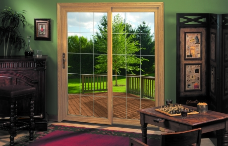 sliding-glass-door-woodgrain-beveled-glass-cedar-rapids-iowa-city