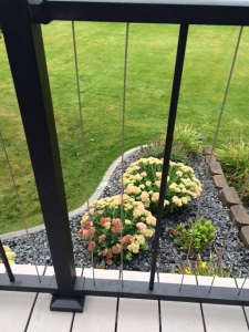 HTR - Deck eBook - Deck with Cord Rails with Flower Garden below