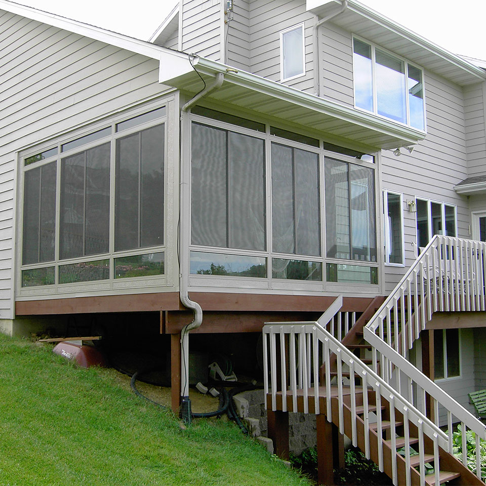 how to enclose a balcony Sunroom Contractor Eastern Iowa Home Town Restyling