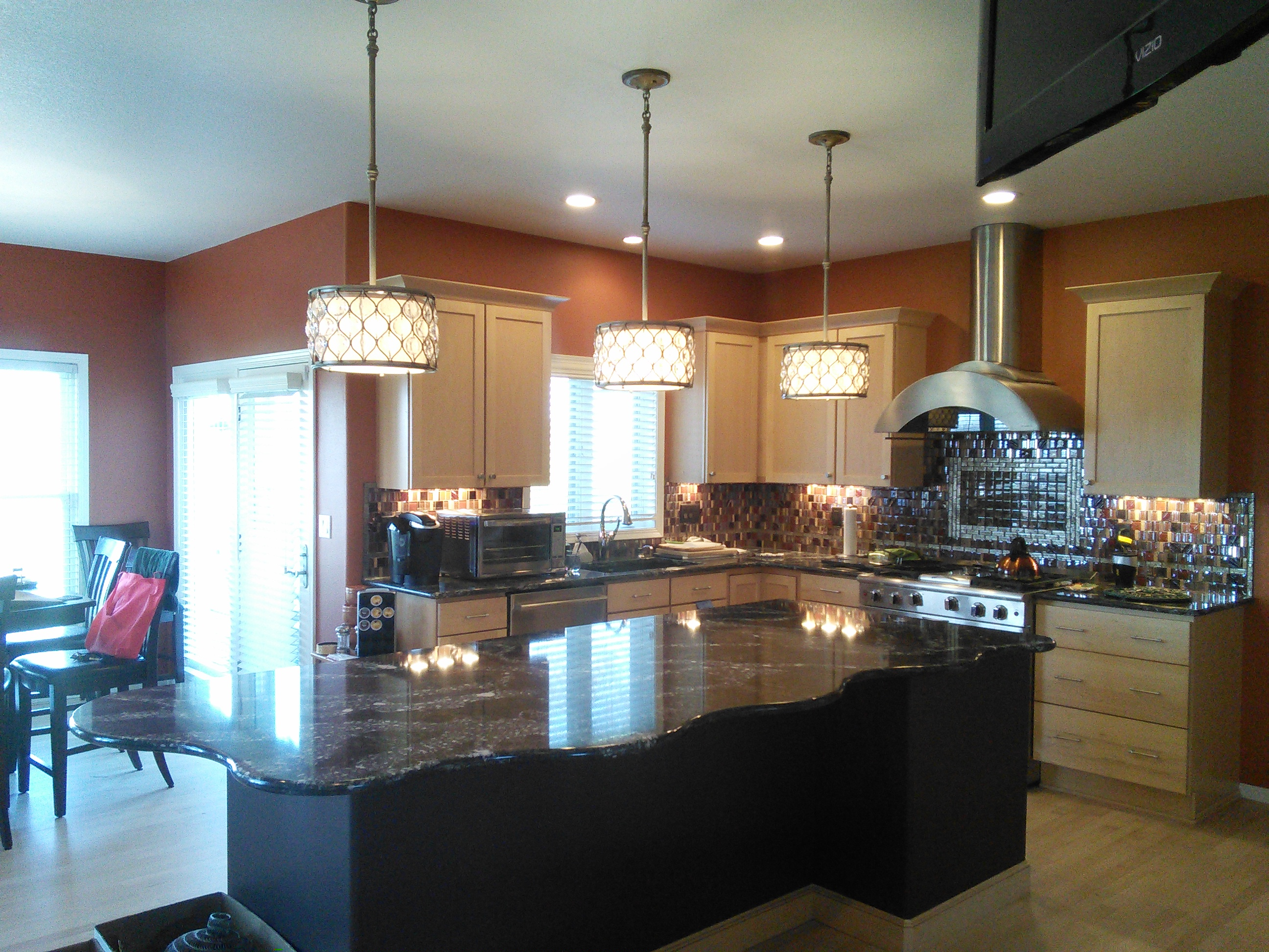 Completed kitchen remodeling project.