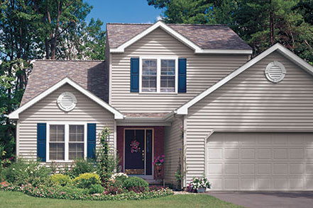 Beautiful house that siding contractors have worked on.