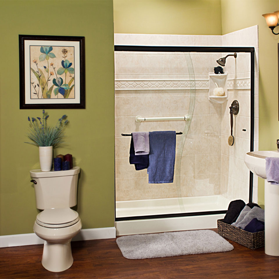 Install a walk-in shower with help from a bathroom remodeling contractor.