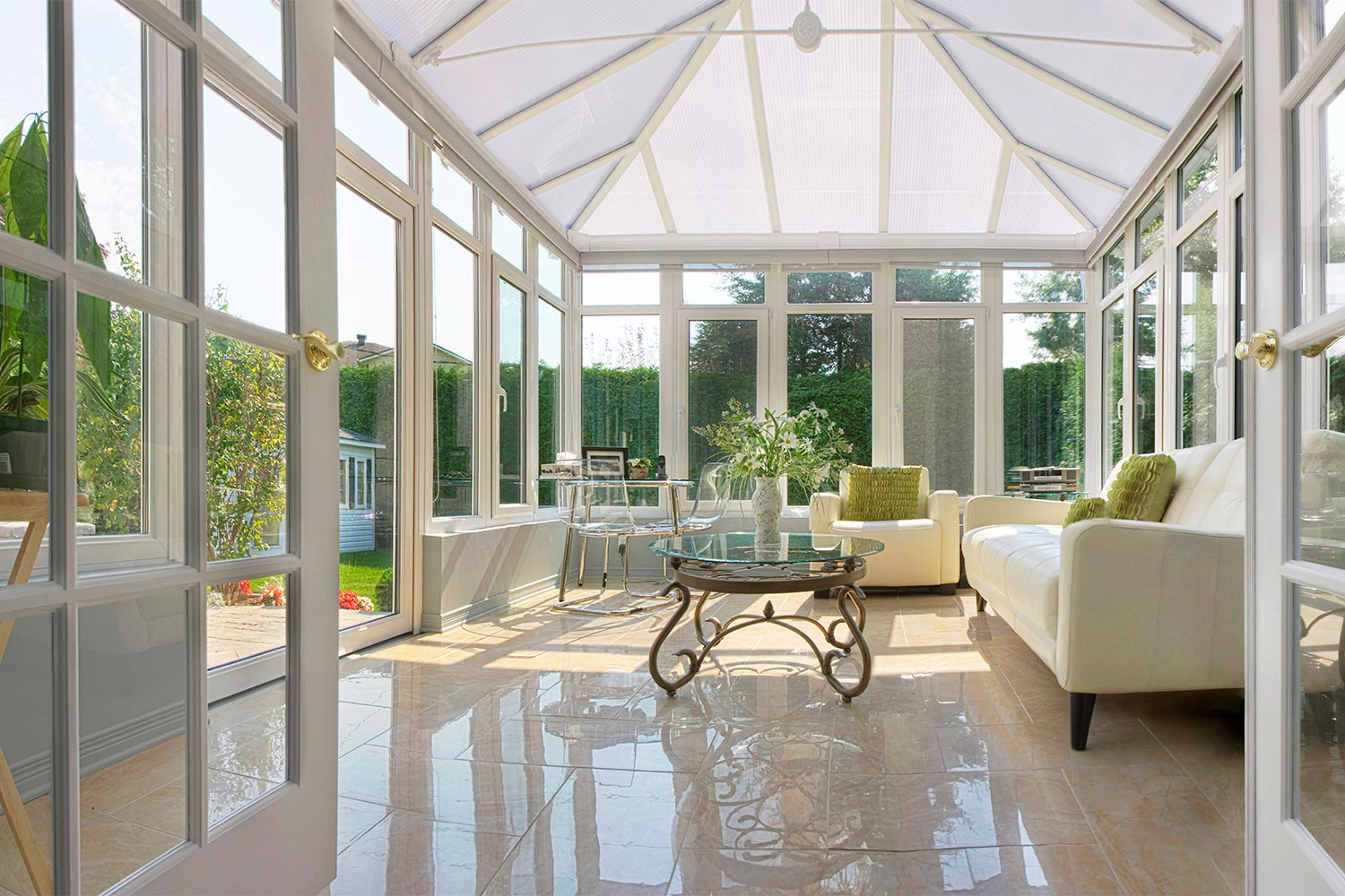 Iowa Conservatory Sunroom Installation | Interior View | Home Town restyling