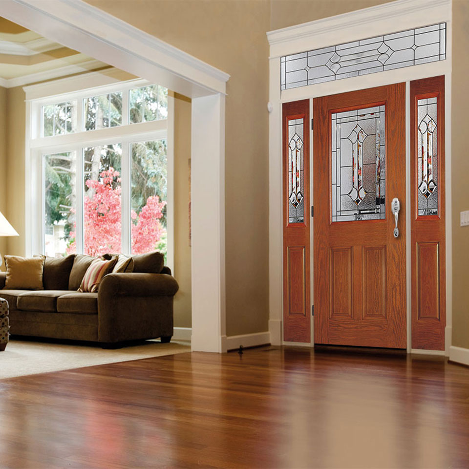 Fiberglass can be used for interior or exterior doors.