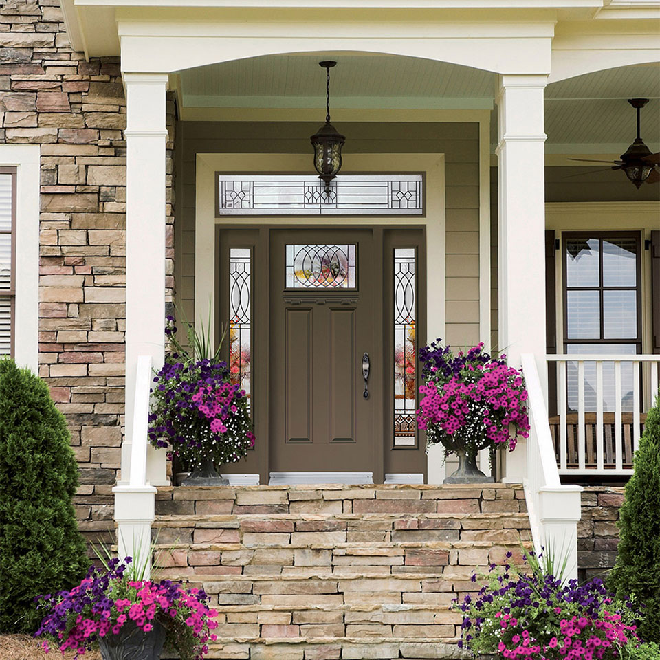 Steel is a good material for interior or exterior doors.