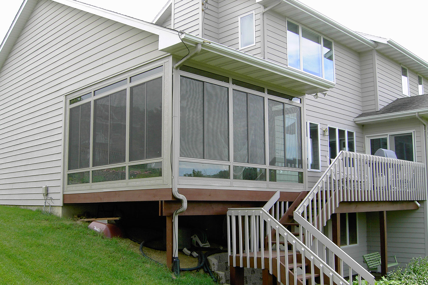 Iowa Sunroom Conversion   Enclosed Screen Room 2   Home Town Restyling