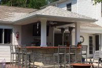 Iowa Outdoor and Backyard Living Spaces | Tiki Bar | Home Town Restyling