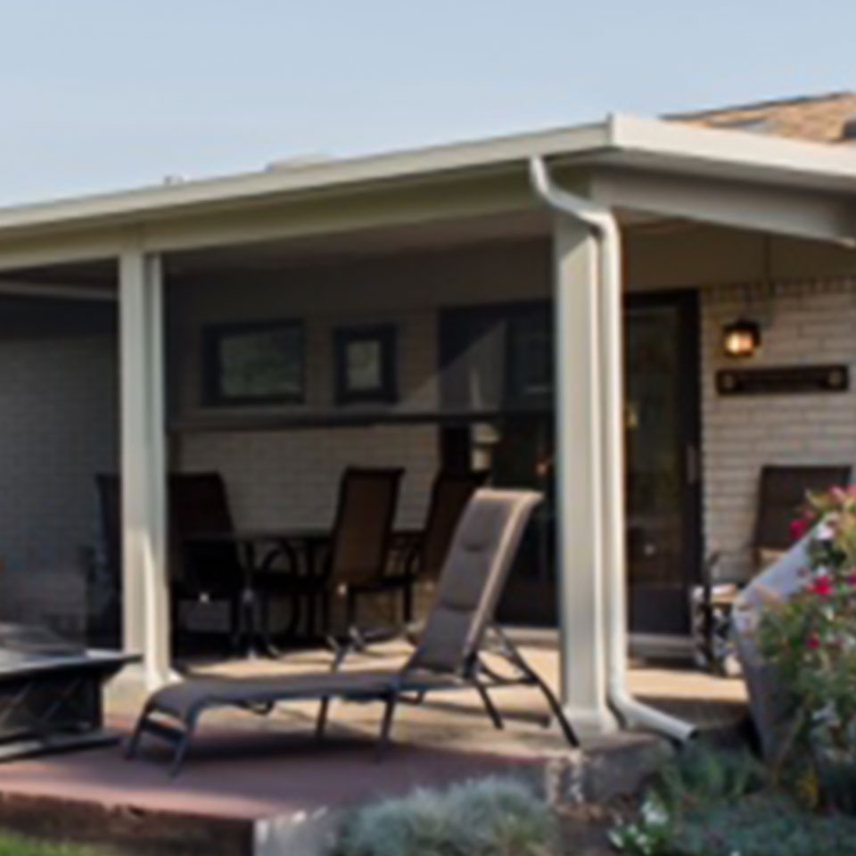 Aside from a pergola, a patio cover is a great option as well.