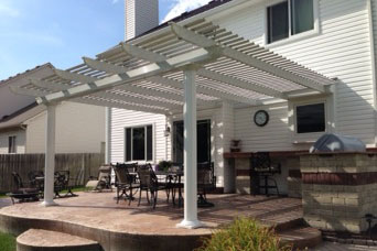 Iowa Attached Pergola | Attached Pergolas | Home Town Restyling
