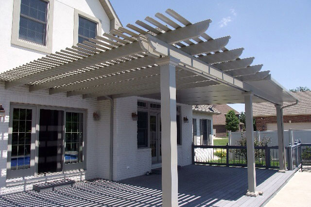 Iowa Attached and Detatched Pergolas | Attached Pergola 2 | Home Town Restyling