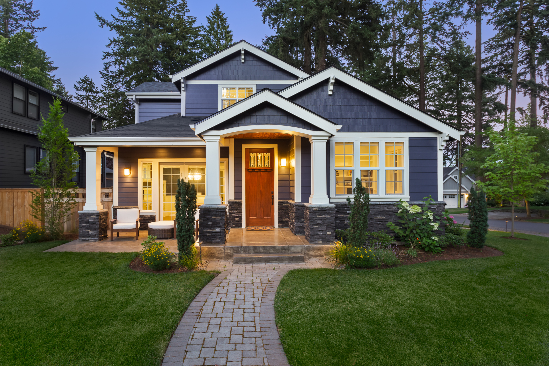 Exterior Home Blue Siding | Home Town Restyling