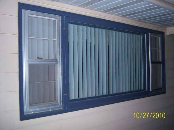 Home Town Restyling Three Lite Sliding Window